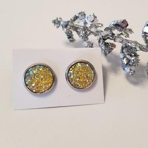 3/$20 Druzy Earrings 12mm